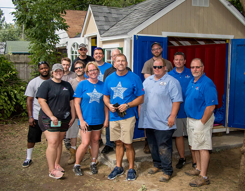 Service Experts Make-A-Wish Crowd